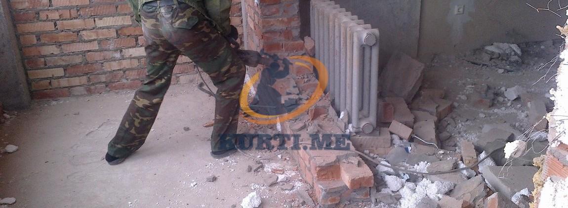 разрушаване на тухла подпрозорец апартамент къща