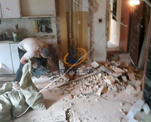 преустройство на апартаметни тухла бетон стени кухня баня в софия