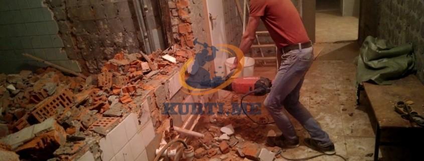 качествено разрушаване на тухлени стени в софия